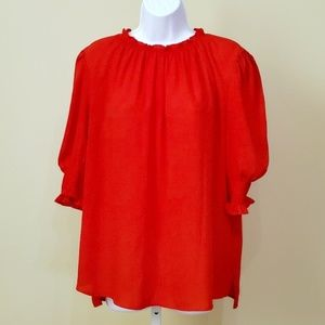 Who What Wear | Red Blouse | EUC